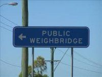 Sign to Public Weighbridge